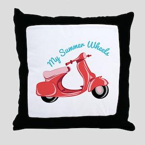 Summer Wheels Throw Pillow