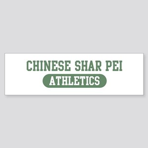 Chinese Shar Pei athletics Bumper Sticker