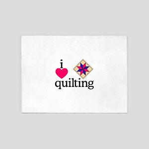 I Love Quilting/Square 5'x7'Area Rug