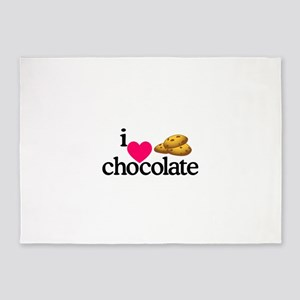 I Love Chocolate/Cookies 5'x7'Area Rug