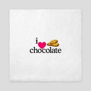 I Love Chocolate/Cookies Queen Duvet