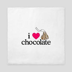 I Love Chocolate/Hug Queen Duvet