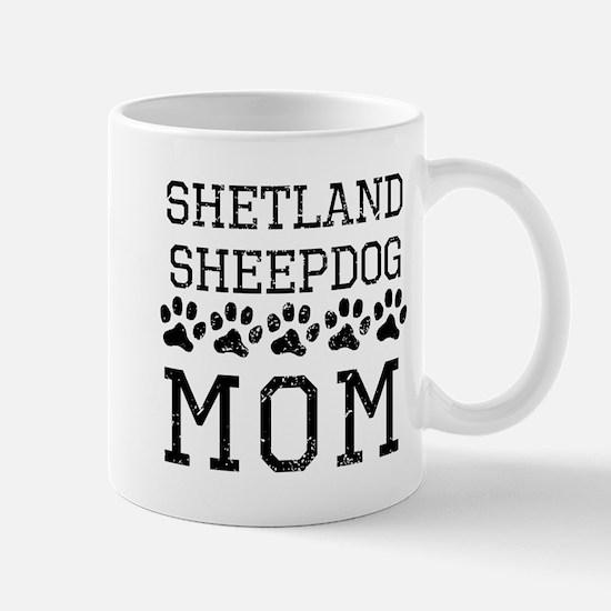 Shetland Sheepdog Mom (Distressed) Mugs