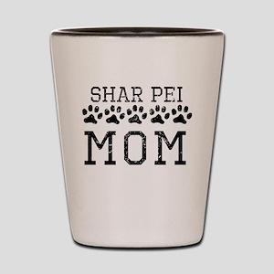 Shar Pei Mom (Distressed) Shot Glass