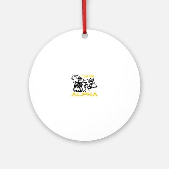 I am the Alpha Ornament (Round)