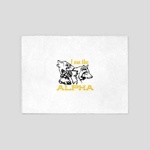 I am the Alpha 5'x7'Area Rug