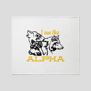 I am the Alpha Throw Blanket