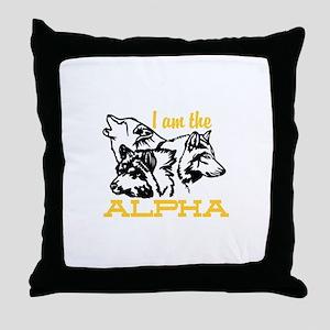 I am the Alpha Throw Pillow