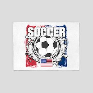 USA Soccer 5'x7'Area Rug