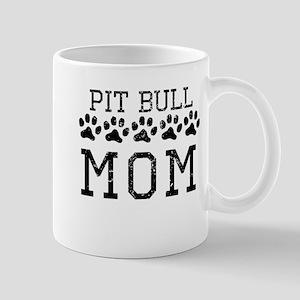 Pit Bull Mom (Distressed) Mugs