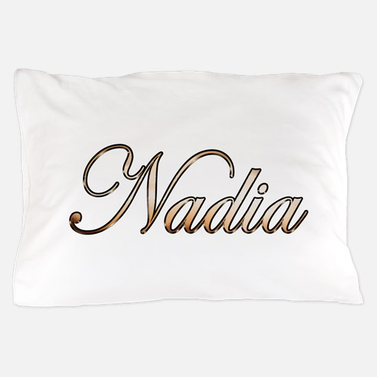 Gold Nadia Pillow Case