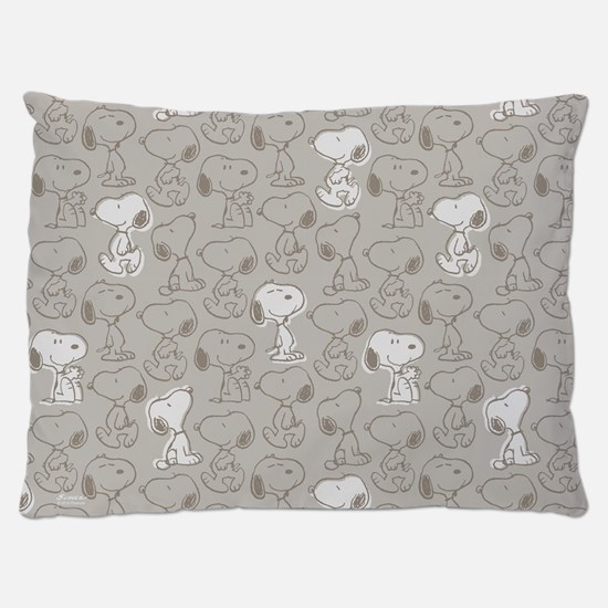 Snoopy Tan Collage Dog Bed