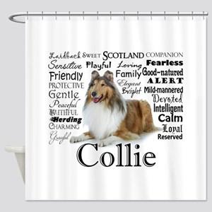 Collie Traits Shower Curtain