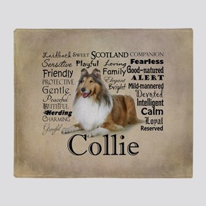 Collie Traits Throw Blanket
