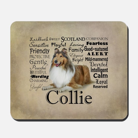 Collie Traits Mousepad