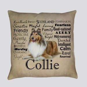 Collie Traits Everyday Pillow