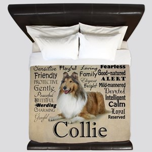 Collie Traits King Duvet
