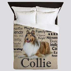 Collie Traits Queen Duvet