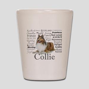 Collie Traits Shot Glass