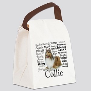 Collie Traits Canvas Lunch Bag