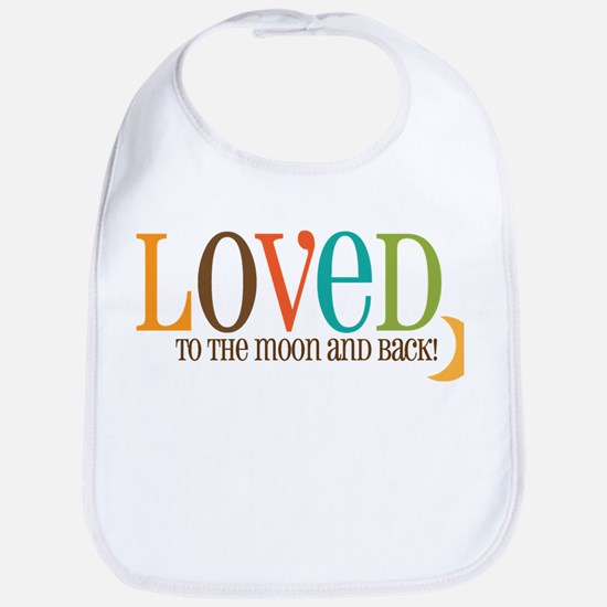 Loved to the Moon Bib