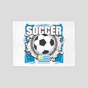 Uruguay Soccer 5'x7'Area Rug