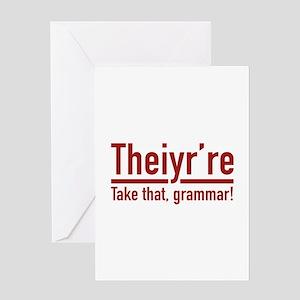Bad grammar greeting cards cafepress theiyrre greeting card m4hsunfo
