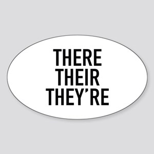 There Their They're Sticker (Oval)