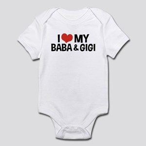 I Love My Baba and Gigi Infant Bodysuit