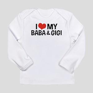 I Love My Baba and Gigi Long Sleeve Infant T-Shirt