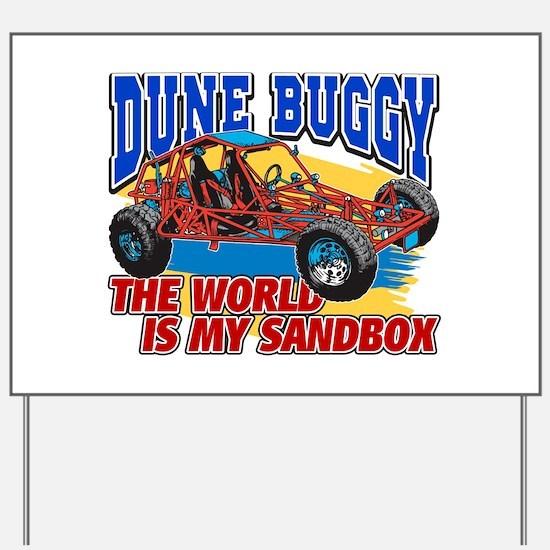 Dune Buggy Sandbox Yard Sign