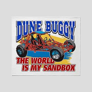 Dune Buggy Sandbox Throw Blanket