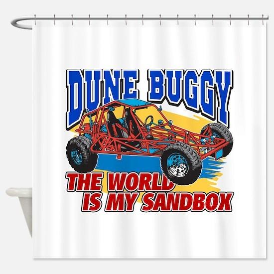 Dune Buggy Sandbox Shower Curtain
