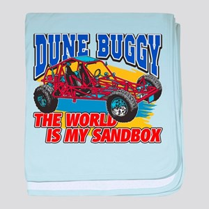 Dune Buggy Sandbox baby blanket