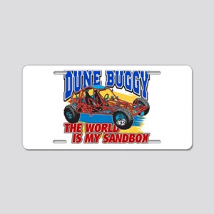 Dune Buggy Sandbox Aluminum License Plate