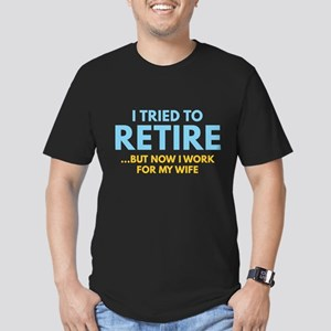 I Tried To Retire Men's Fitted T-Shirt (dark)
