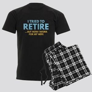 I Tried To Retire Men's Dark Pajamas