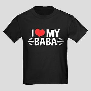 I Love My Baba Kids Dark T-Shirt