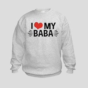 I Love My Baba Kids Sweatshirt