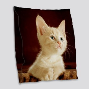 Cute kitten Burlap Throw Pillow