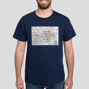 Tokyo Metro Map Dark T-Shirt