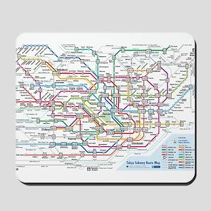 Tokyo Metro Map Mousepad