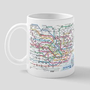 Tokyo Metro Map Mug