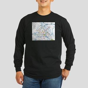 Vienna Metro Map Long Sleeve Dark T-Shirt