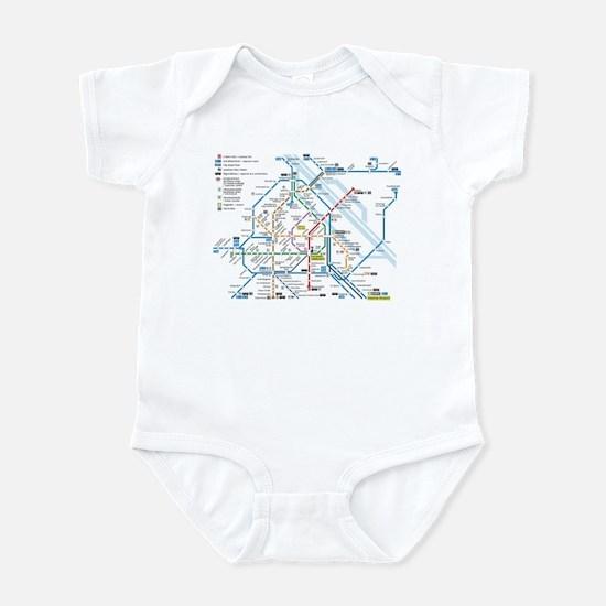 Vienna Metro Map Infant Bodysuit