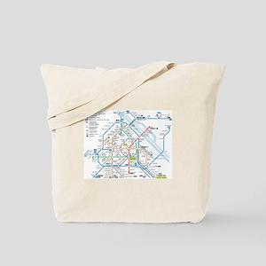 Vienna Metro Map Tote Bag
