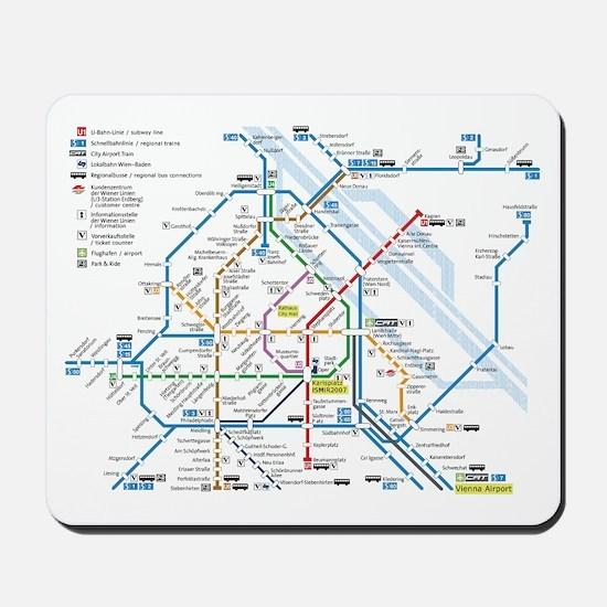 Vienna Metro Map Mousepad