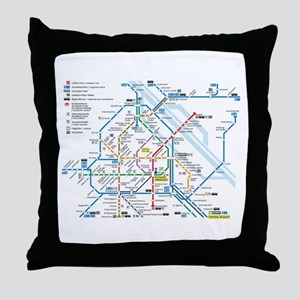 Vienna Metro Map Throw Pillow