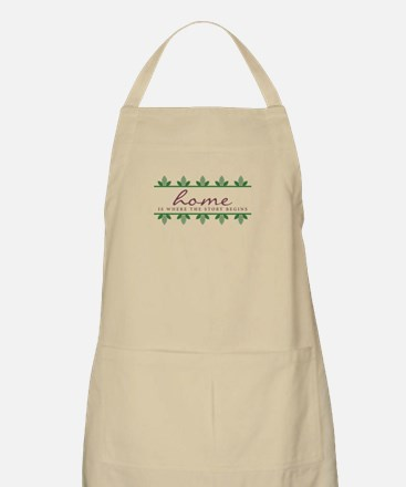 Story Begings At Home Apron