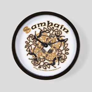 Samhain II Wall Clock